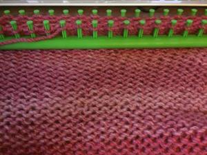 Garter stitch on long loom